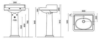 Раковина Pompei 60 см -13857
