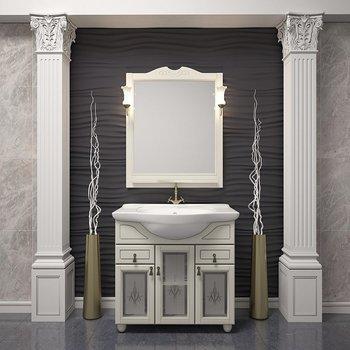 Мебель для ванной Тибет 75 Слоновая кость Opadiris-10884