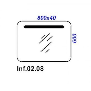 Зеркало с подсветкой Инфинити  Л8 Inf.02.08 -12286