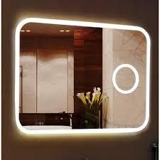 Зеркало Bliss Led 1000*700  с увеличительным зеркалом и часами -17475