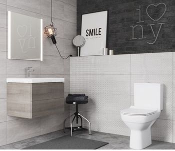 Компакт City New Clean On 011 3/5, дюр.slim, lift, e-off, белый-11482