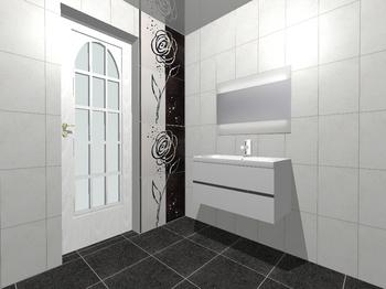 Decor Zinder Negro декор 33,3*60 (из 4-х) -17354
