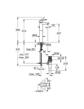 32856000 BauLoop Смеситель для раковины (хром) GROHE-12706
