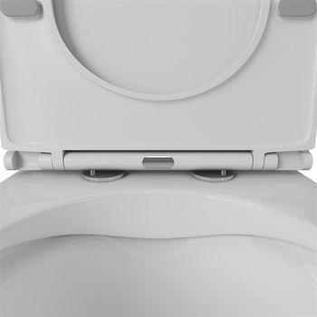 Чаша унитаза-компакта напольного безободкового OWL Vind Cirkel-GL с сиденьем DP микролифт-19379