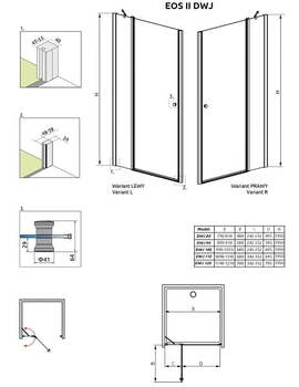 Душевая дверь EOS2 II DWJ 80L -15424
