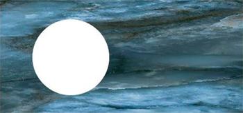 Спец. изделие декоративное 97х48.5 CONO Onice синий с отверстием под смеситель керамическое-18568