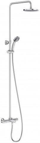 Душевая стойка для душа/ванны JULY с термостатом и круглым верхним душем (хром) Jacob Delafon (E99741-CP) - главное фото