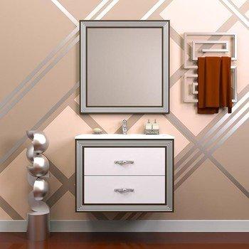 Зеркало карат 80 Белый/серебро Opadiris-13530