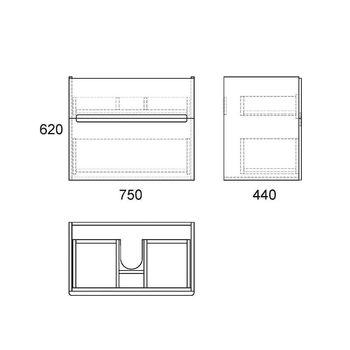 Тумба Nyborg80, 2 ящика, белая OW06.03.00-17573
