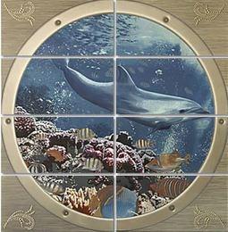 Mural Poseidon I панно (из 8-ми плиток 25*50)