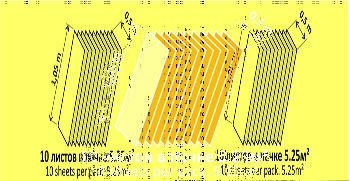 Подложка Листовая Жёлтая 2мм (Солид)  5,25 м2 1050*500*2-15735