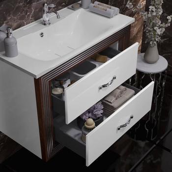 Мебель для ванной Карат 80 Белый/серебро Opadiris-13178