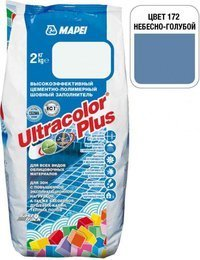 Затирка Ultracolor Plus №172 (небесно-голубая) 2 кг.
