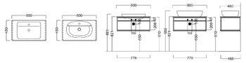 Метал.структура PLAZA Next, подвесная 80 см, цв.черный матовый-14178