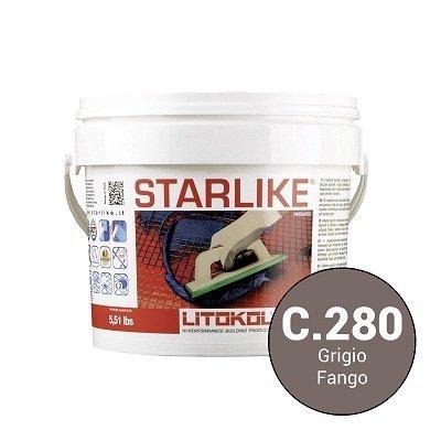 Эпоксидная затирка Starlike Defender C.280 Grigio антибактер. 1 кг