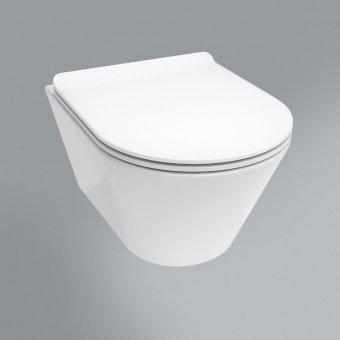 Сиденье PLAZA Modern Slim Soft close + clip up, белый -14084