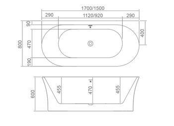 8C-360-170 Ванна VALENCIA 170 1700×800×600 пристенная-11600