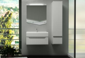 Зеркало CRYSTAL CUB 70, белый-15032