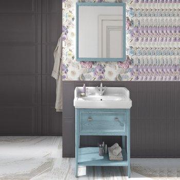Панель с зеркалом Provence, 60 см синий-14049
