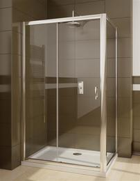 Душ.дверь Premium Plus DWJ 140*190 хром/прозр 33323-01-01N