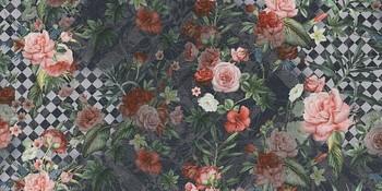 Цветы декорированный обрезной-19091