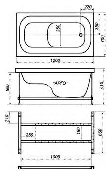 Акриловая ванна Triton Арго -10369