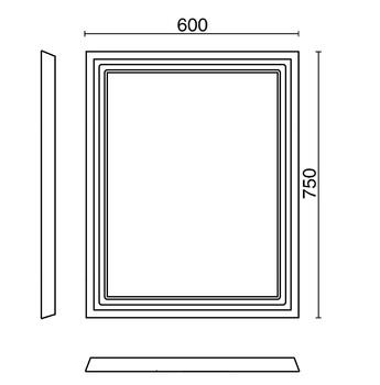 Зеркало POMPEI 60 см, черное-13836