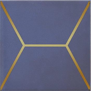 Декор Витраж синий-12854