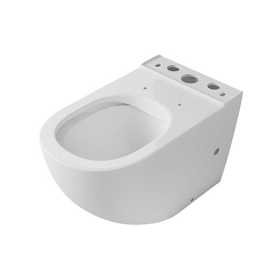 Чаша унитаза-компакта напольного безободкового OWL Vind Cirkel-GL с сиденьем DP микролифт - главное фото