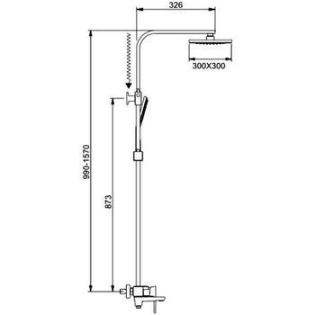 Душевая система A2406 хром Faop-21032