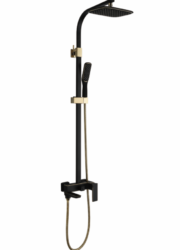 Душевая система A2406-6 (черн./золото) Faop