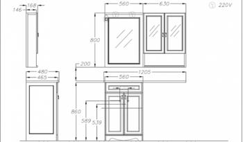 Мебель для ванной Клио под стиральную машину Орех антикварный Opadiris-14717