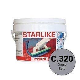 Эпоксидная затирка Starlike Defender C.320 Grigio Seta антибактер. 1 кг