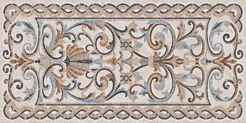 Мозаика беж декорированный лаппатированный-19095