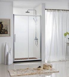 Душ.дверь DROP в нишу 1200x2000, одна раздвижная двер, профиль алюминий  полир. BD120.4100A