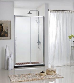 Душ.дверь DROP в нишу 1200x2000, одна раздвижная двер, профиль алюминий  полир. BD120.4100A-11123
