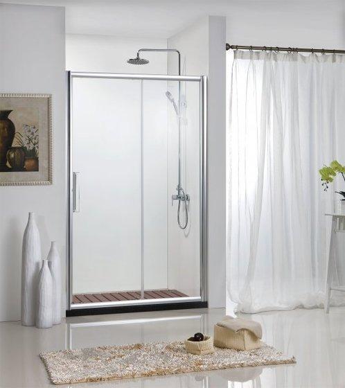Душ.дверь DROP в нишу 1200x2000, одна раздвижная двер, профиль алюминий  полир. BD120.4100A - главное фото