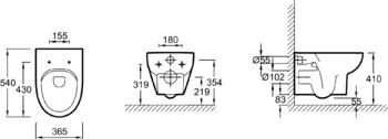 E4570-00 унитаз ODEON UP подвесной без ободка (бел) JD-12944