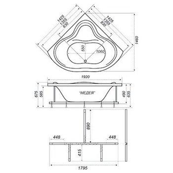 Акриловая ванна Triton Медея-10440