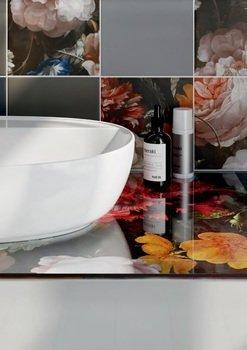 Спец.декоративное изделие для накладных раковин Парк Роз (Флауэрс)-14877