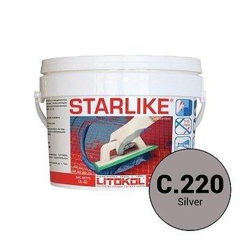 Эпоксидная затирка Starlike C.220 Silver 2,5 кг-9814