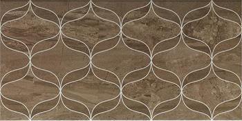 Ethereal Soft Brown Geometric Decor Glossy -10883