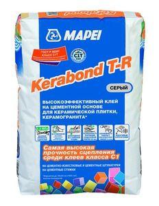 Mapei Kerabond T-R клей для плитки и керамогранита  серый 25 кг
