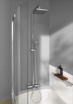 E78192-CP душевая стойка для душа/ванны JULY с термостатом и квадратным верхним душем (хром) Jacob Delafon-13033