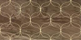 Ethereal Gold Geometric Decor Soft Brown Glossy