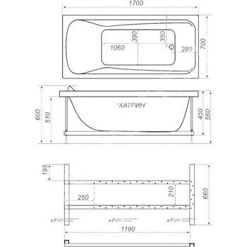 Акриловая ванна Triton Катрин -10322