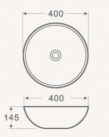 Раковина накладная круглая CS3003 -16172