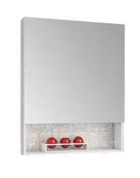 Шкаф зеркальный  FUSION (белый глянец)