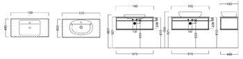 Метал.структура PLAZA Next, подвесная 100 см, цв.черный матовый-14191