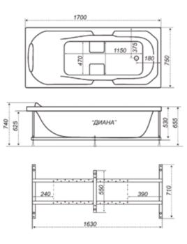 Акриловая ванна Triton Диана-10414
